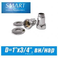 Комплект прямых американок SMART D1x3/4 вн/нар