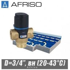 Трехходовой клапан Afriso ATM331 D=3/4'', вн (20-43°С)