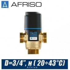 Трехходовой клапан Afriso ATM341 D=3/4'', н ( 20÷43°С)