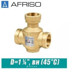 """Трехходовой термический клапан Afriso ATV553 D=1 1/4"""", вн (45°С)"""
