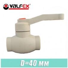 Кран шаровый полипропилен Valfex D 40 мм