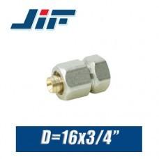 """Переход цанговый JiF D16x3/4"""", вн."""