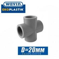 Крестовина паечная Wavin D20 мм