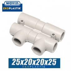 Распределительный узел Wavin D=25x20x20x25 мм