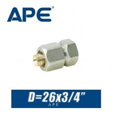 "Переход цанговый APE D26x3/4"", вн."