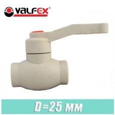 Кран шаровый полипропилен Valfex D 25 мм