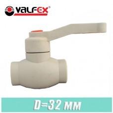 Кран шаровый полипропилен Valfex D 32 мм