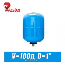 Расширительный бак для ХВС Wester 100 л (WAV100)