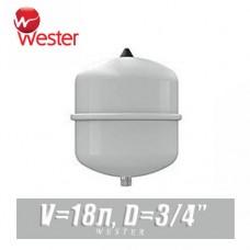 Расширительный бак для ГВС Wester 18 л (WDV18)