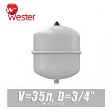 Расширительный бак для ГВС Wester 35 л (WDV35)