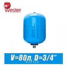 Расширительный бак для ХВС Wester 80 л (WAV80)