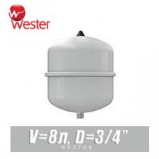 Расширительный бак для ГВС Wester 8 л (WDV8)