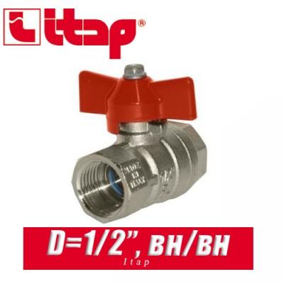 Кран шаровый с бабочкой Itap D1/2 (15 мм) вн/вн