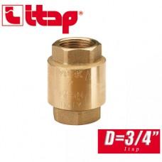 Обратный клапан пружинный EUROPA Itap D3/4 арт. 100
