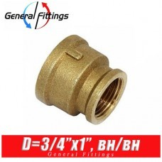Муфта латунная General Fittings D3/4x1, вн./вн.