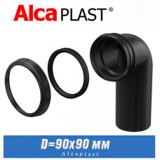 Колено стока для инсталляции Alcaplast M908 D=90/90мм