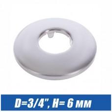 Отражатель хромированный  D=3/4 плоский (6 мм)