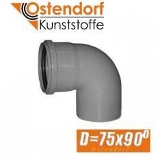 Угол канализационный Ostendorf D75x90 град.