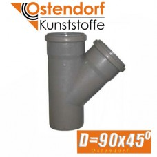 Тройник канализационный Ostendorf D90x45 град.