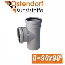 Тройник канализационный Ostendorf D90x90 град.