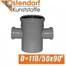 Крестовина канализационная Ostendorf D110/50x90 град.