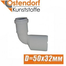Муфта канализационная переходная угловая Ostendorf D50 x 32