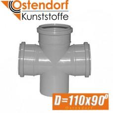 Крестовина канализационная Ostendorf D110x90 град.