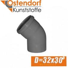 Угол канализационный Ostendorf D32 x 30 град