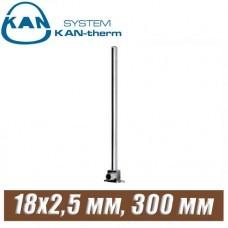 Трубка хром KAN-therm Push Cu15-18x2,5 мм, 300 мм