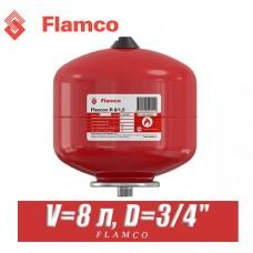 Расширительный бак Flamco FLEXCON 8 л