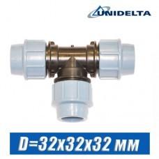 Тройник ПЭ Unidelta D=32x32x32